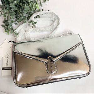 Calvin Klein Limited Edition Lock Metallic Bag